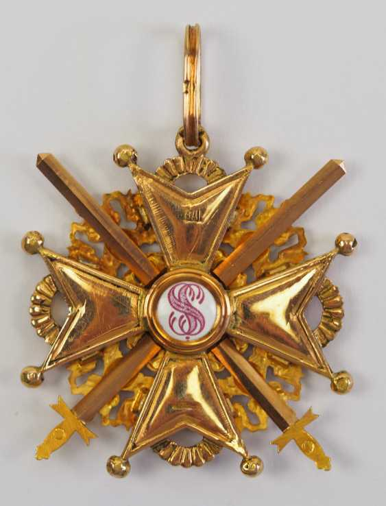 Russia: Imperial and Royal order of Saint Stanislaus, 2. Model, 2. Type (approx. 1841-1917), 2. Class, with swords. - photo 3
