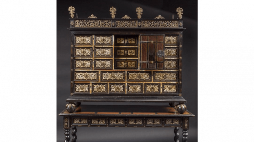 Cabinet in marquetry of ivory, bone and ebonized wood - photo 5