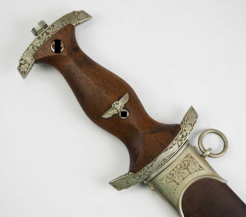 SA gift dagger with oak leaf decoration and dedication. - photo 1