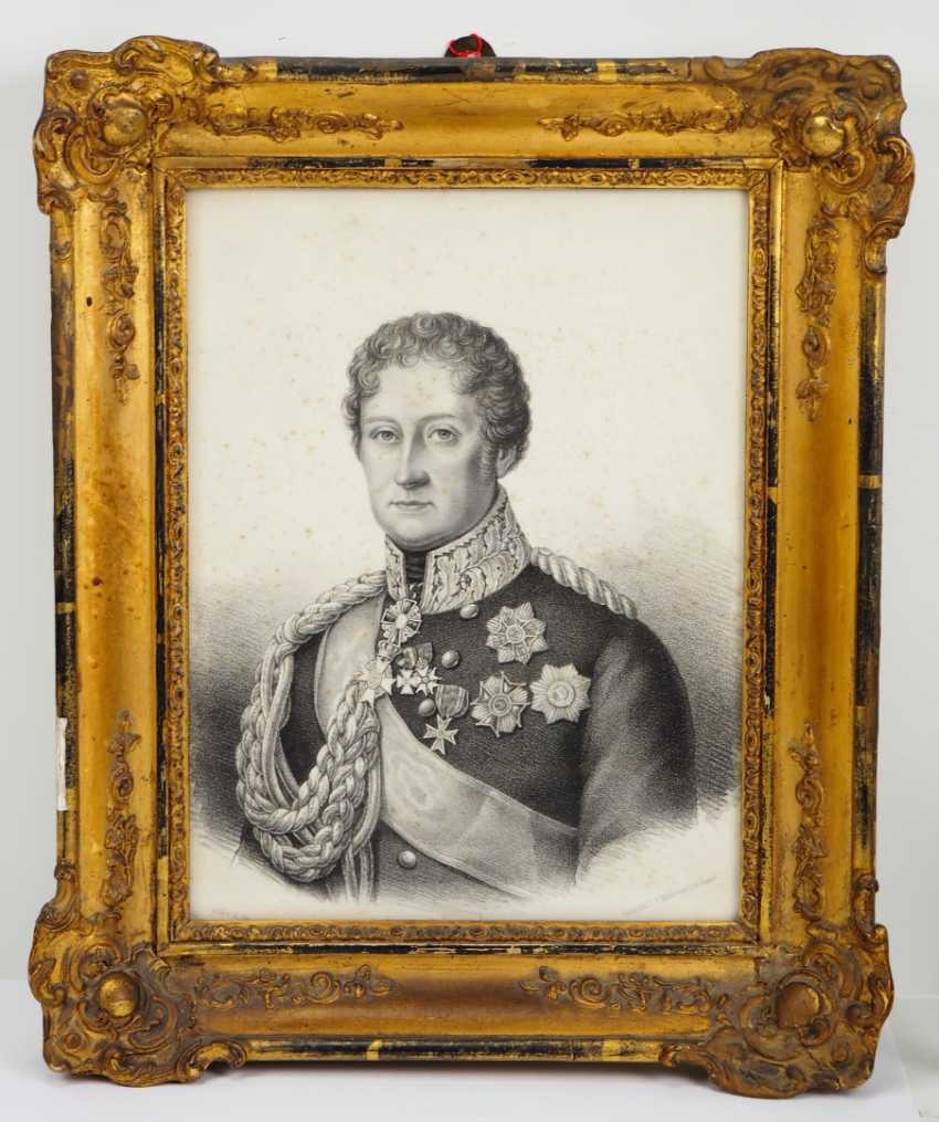 Baden, Karl Ludwig Friedrich of Baden - lithography. - photo 1