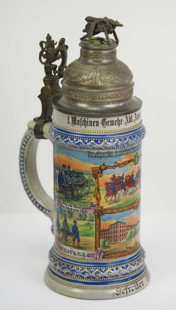 Bavaria: reservists jug of a corporal of the 1. Machine Gun Sect. Augsburg-Lech-Field Landau 1911-1913. - photo 1