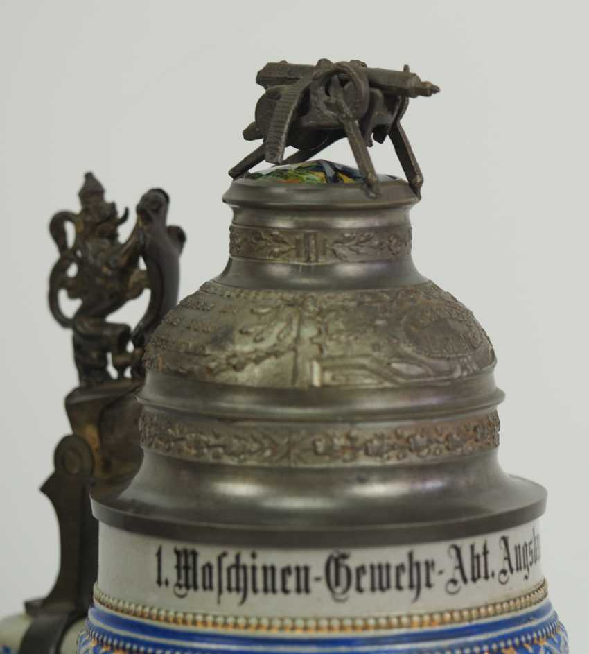 Bavaria: reservists jug of a corporal of the 1. Machine Gun Sect. Augsburg-Lech-Field Landau 1911-1913. - photo 3