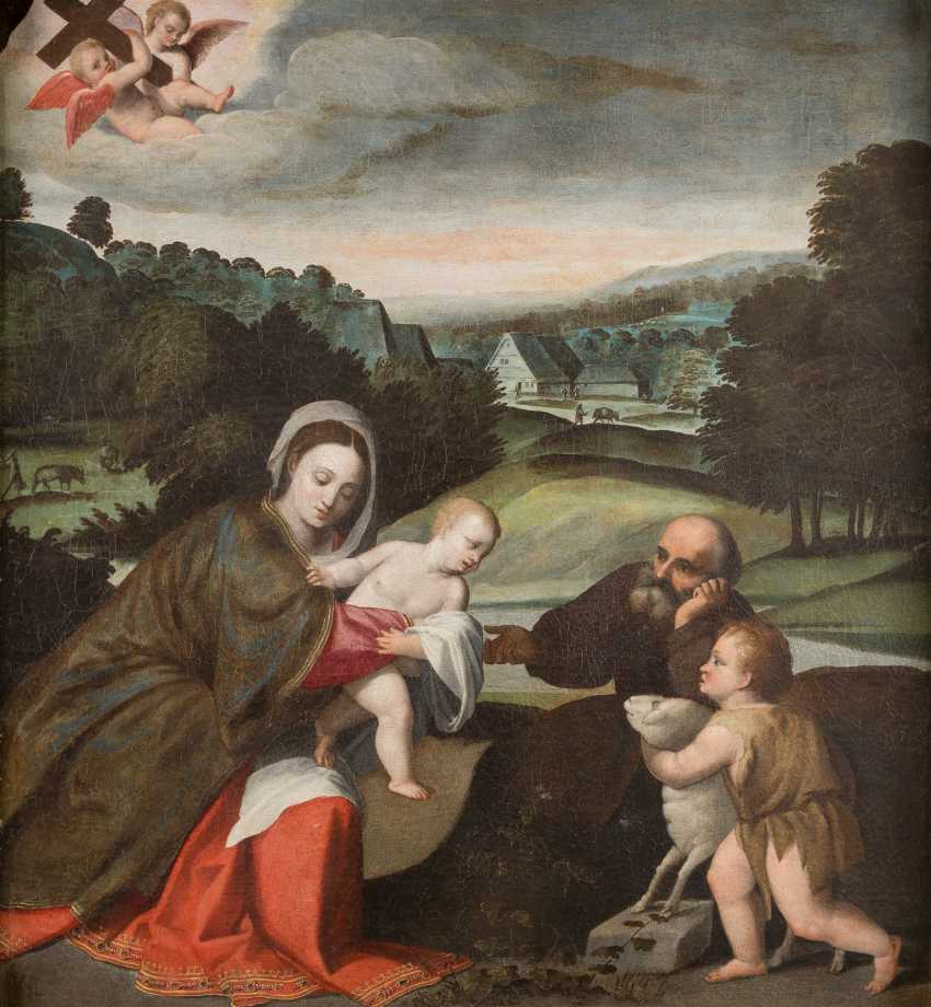 THE HOLY FAMILY WITH SAINT JOHN - photo 1
