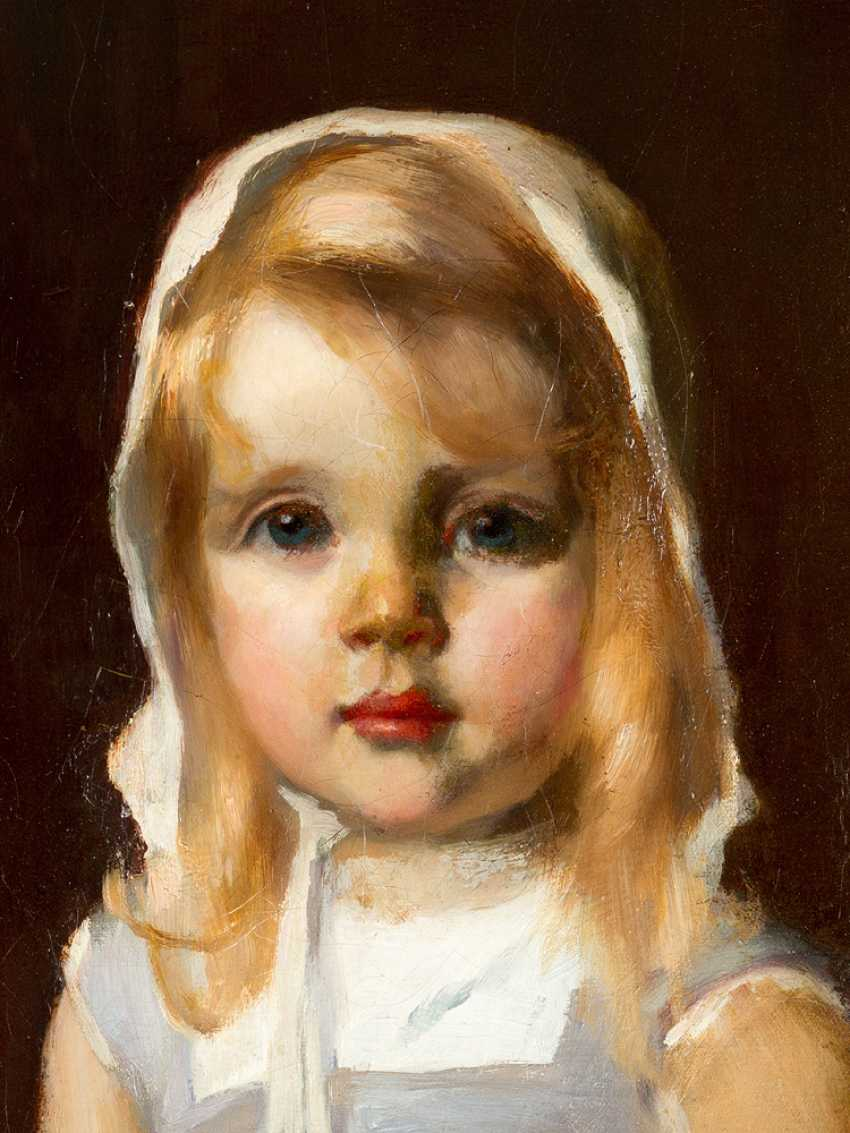Arthur Halmi (1866-1936) portrait of a young girl oil on canvas signed upper right - photo 3