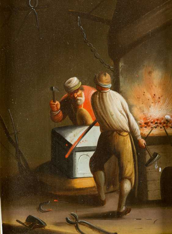 Three Dutch paintings of a smoker in tavern - photo 2