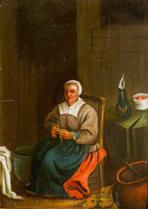 Three Dutch paintings of a smoker in tavern - photo 3