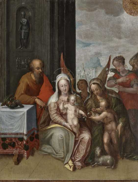 Holy family with Hl. Elisabeth and John the boys'. South German or Austrian end 16. Century - photo 1