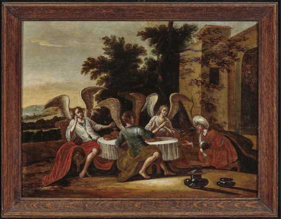 Abraham entertained the three angels. The Netherlands 17. Century - photo 2