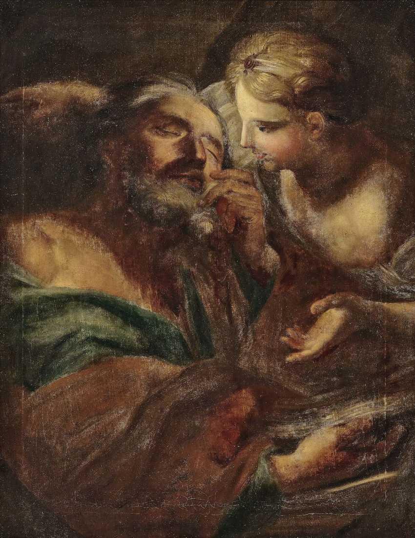Saint with angels. Italy (?) 17. Century - photo 1