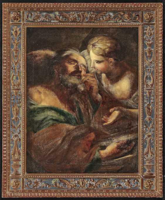 Saint with angels. Italy (?) 17. Century - photo 2
