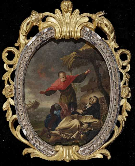 The death of the Hl. Franz Xaver - the death of The Hl. John Of Nepomuk. South German or Austrian 18. Century - photo 2