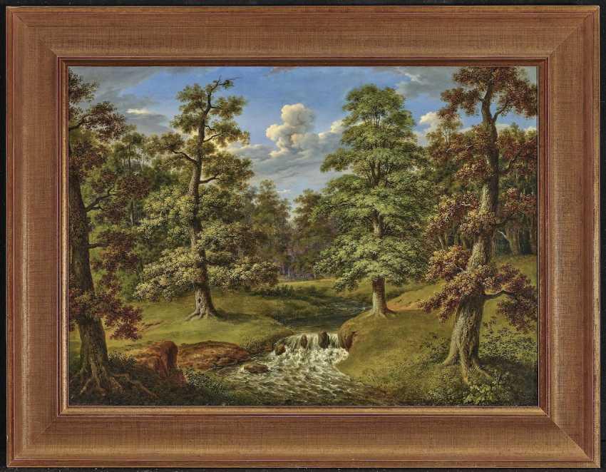 Waldlandschaft mit Bachlauf. Weber, Therese - Foto 2