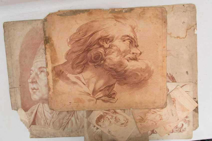 KONVOLUT FRANZÖSISCHE RÖTELRADIERUNGEN, auf Papier, 18./19. Jahrhundert - Foto 1