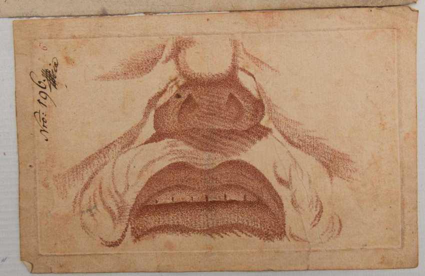 KONVOLUT FRANZÖSISCHE RÖTELRADIERUNGEN, auf Papier, 18./19. Jahrhundert - Foto 3