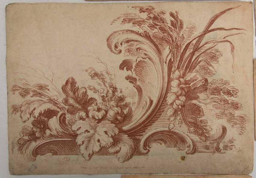 KONVOLUT FRANZÖSISCHE RÖTELRADIERUNGEN, auf Papier, 18./19. Jahrhundert - Foto 4