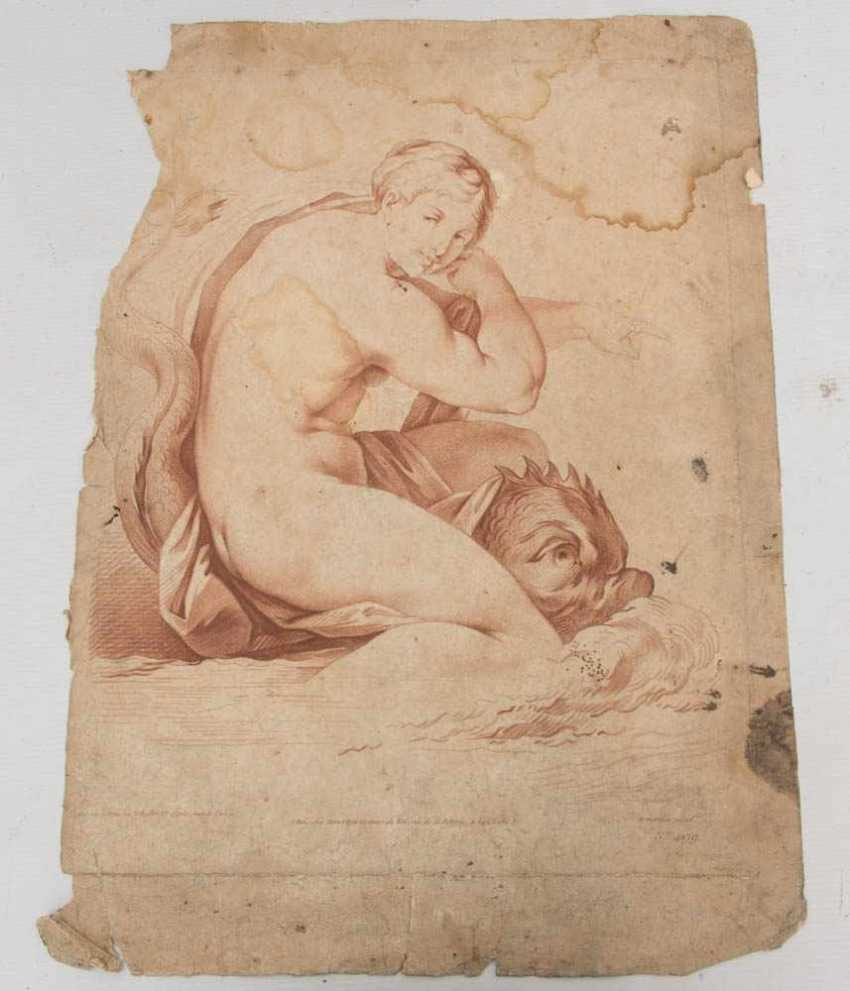 KONVOLUT FRANZÖSISCHE RÖTELRADIERUNGEN, auf Papier, 18./19. Jahrhundert - Foto 5