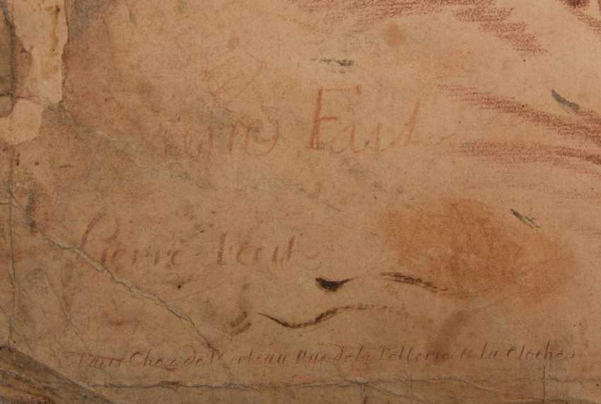 KONVOLUT FRANZÖSISCHE RÖTELRADIERUNGEN, auf Papier, 18./19. Jahrhundert - Foto 9