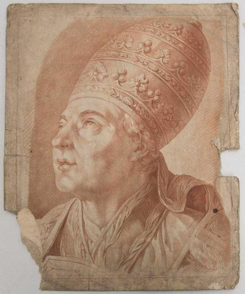 KONVOLUT FRANZÖSISCHE RÖTELRADIERUNGEN, auf Papier, 18./19. Jahrhundert - Foto 11
