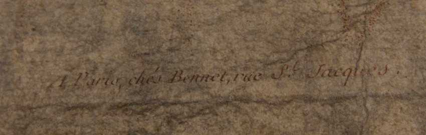 KONVOLUT FRANZÖSISCHE RÖTELRADIERUNGEN, auf Papier, 18./19. Jahrhundert - Foto 13