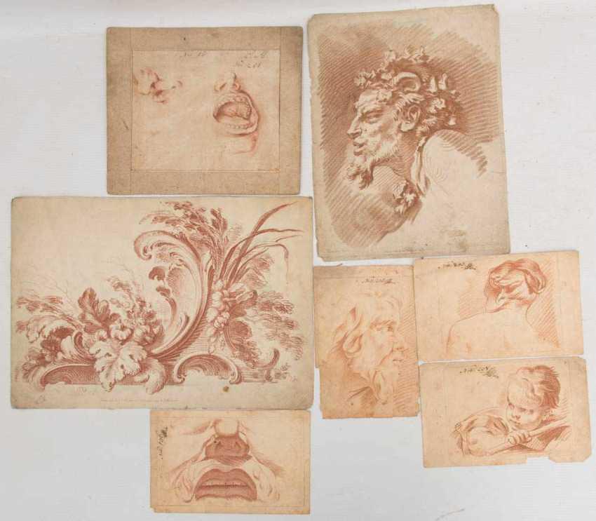 KONVOLUT FRANZÖSISCHE RÖTELRADIERUNGEN, auf Papier, 18./19. Jahrhundert - Foto 14