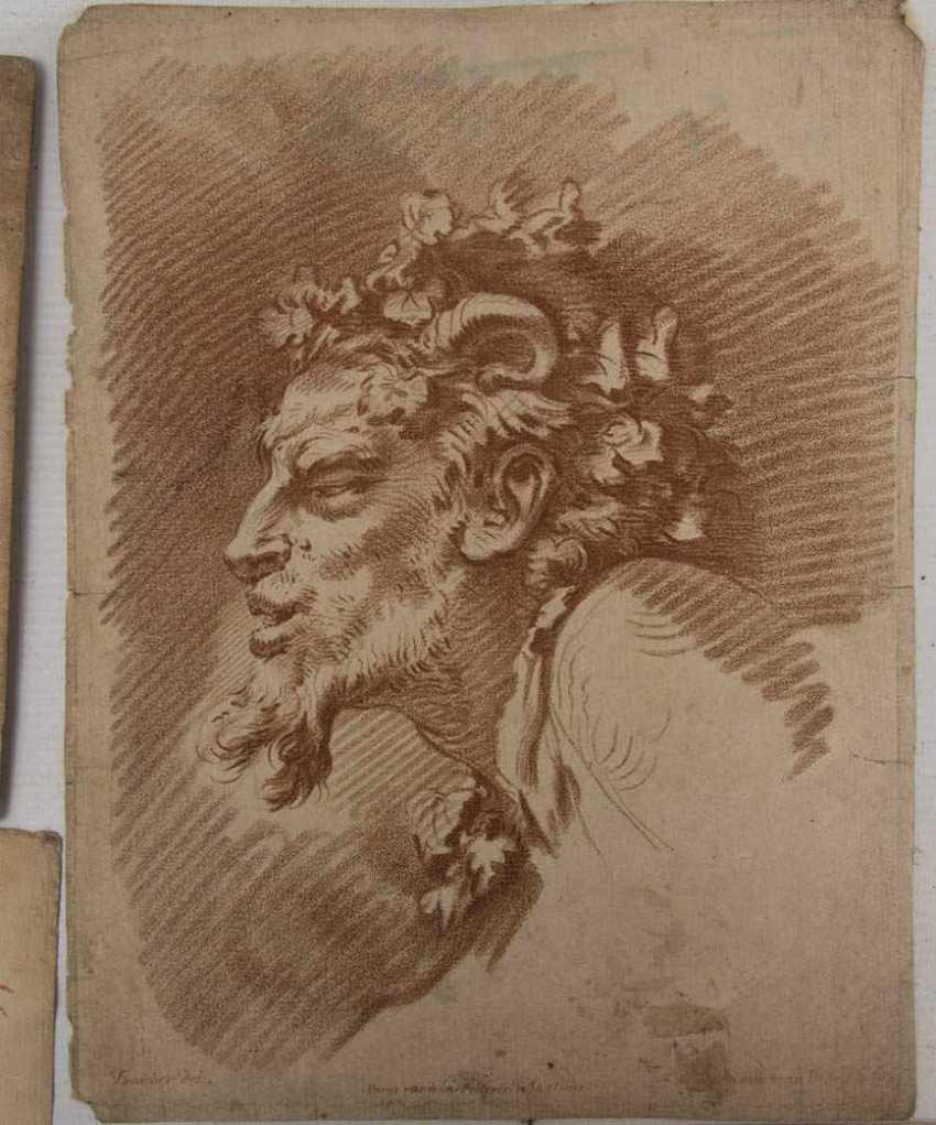 KONVOLUT FRANZÖSISCHE RÖTELRADIERUNGEN, auf Papier, 18./19. Jahrhundert - Foto 15