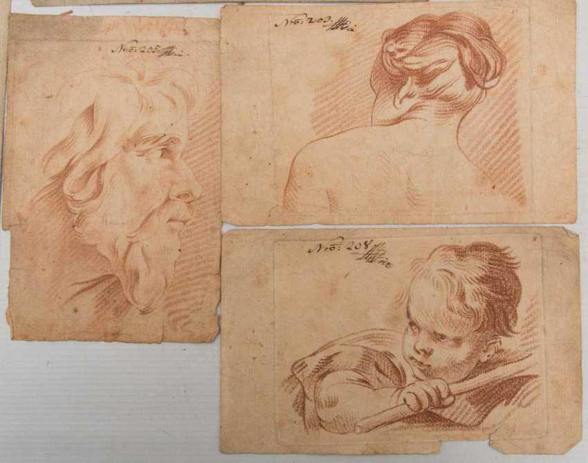 KONVOLUT FRANZÖSISCHE RÖTELRADIERUNGEN, auf Papier, 18./19. Jahrhundert - Foto 16