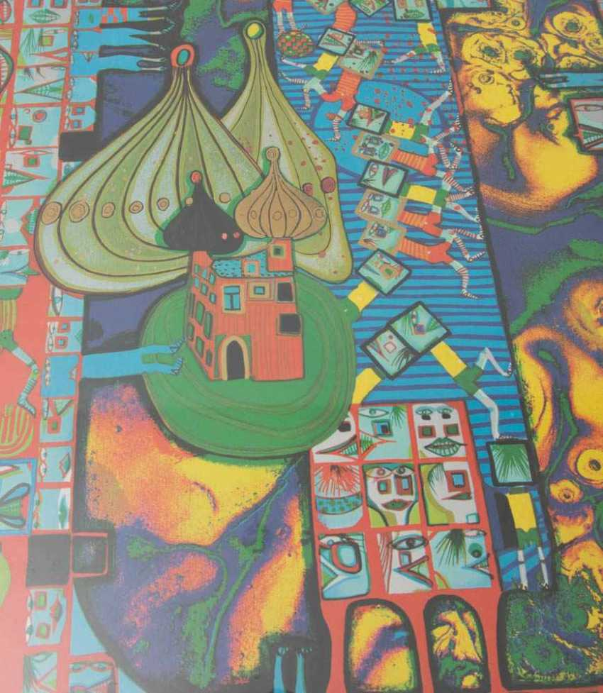 большого постер хундертвассер печать использовать старое покрывало