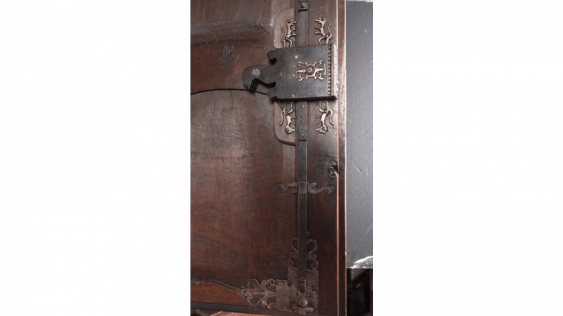 Buffet in walnut molded opening four doors with panelling bypassed - photo 2