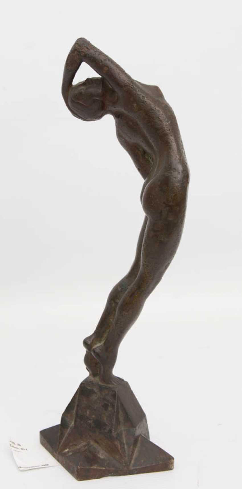 """Heidi Brühl Nude lot 408 """"sculpture, female nude, bronze, 20. century"""" from"""
