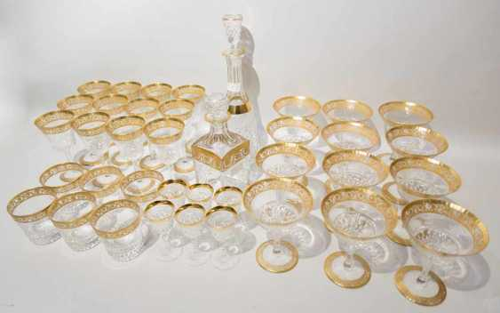 "SAINT LOUIS: KRISTALLGLÄSER KONVOLUT,Serie ""Thistle Gold"", Frankreich, 20. Jahrhundert - Foto 1"