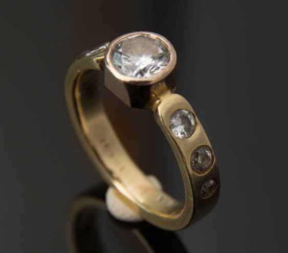 Ladies ring WITH DIAMONDS 1,1 carat diamonds 750 yellow gold. - photo 3