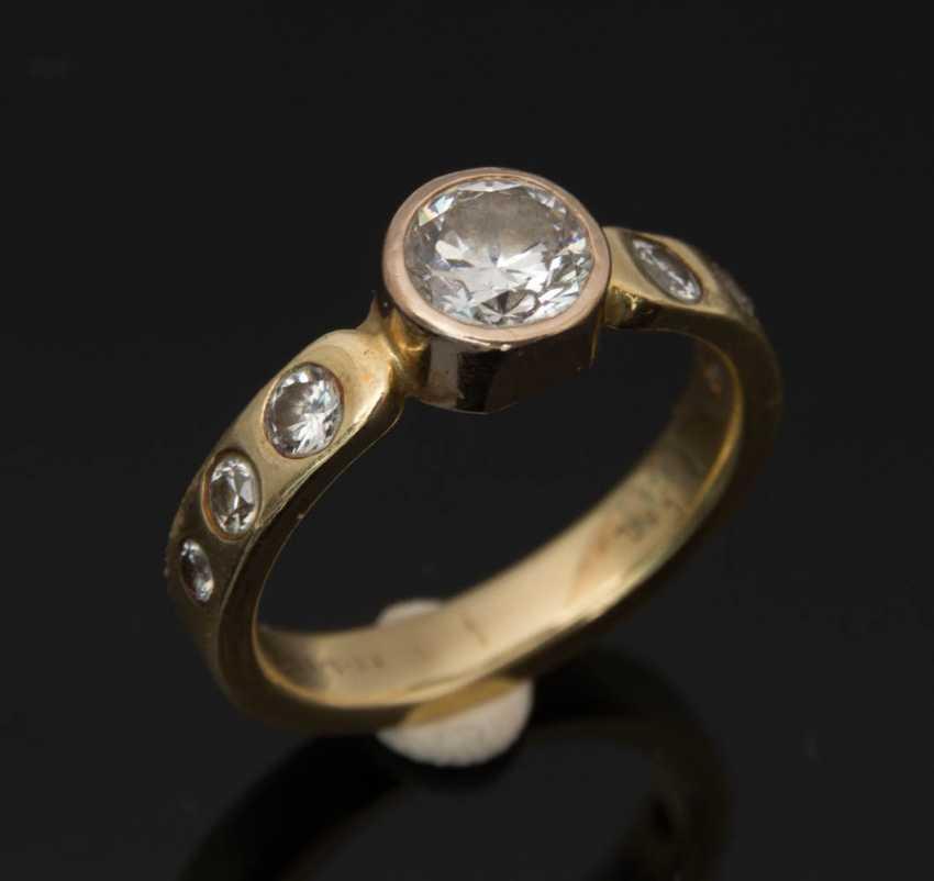 Ladies ring WITH DIAMONDS 1,1 carat diamonds 750 yellow gold. - photo 6
