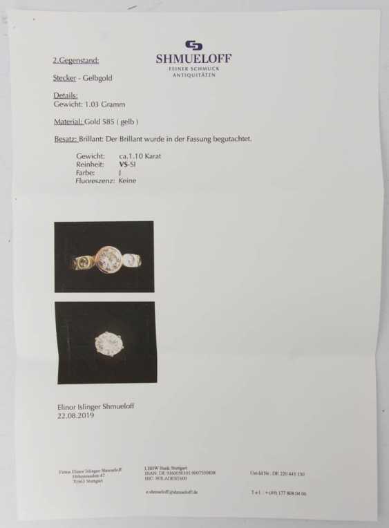 Ladies ring WITH DIAMONDS 1,1 carat diamonds 750 yellow gold. - photo 7