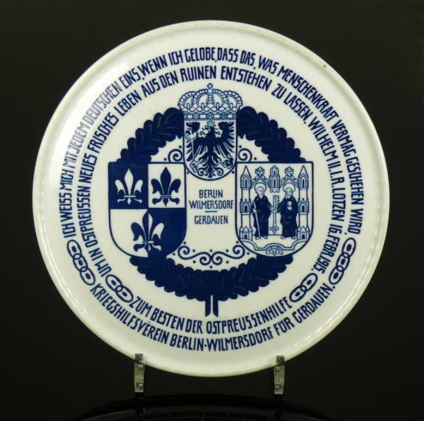 "Wall Plate ""East Prussia Help"" - photo 1"