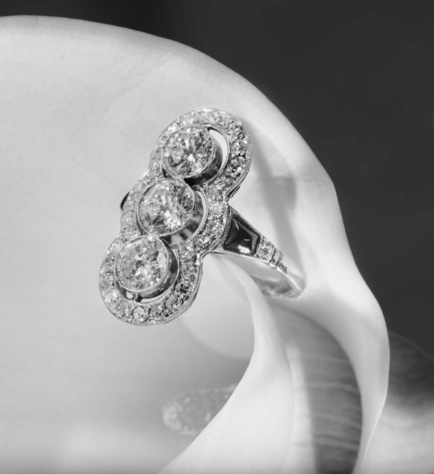 Marquis Shaped Diamond Ring - photo 1