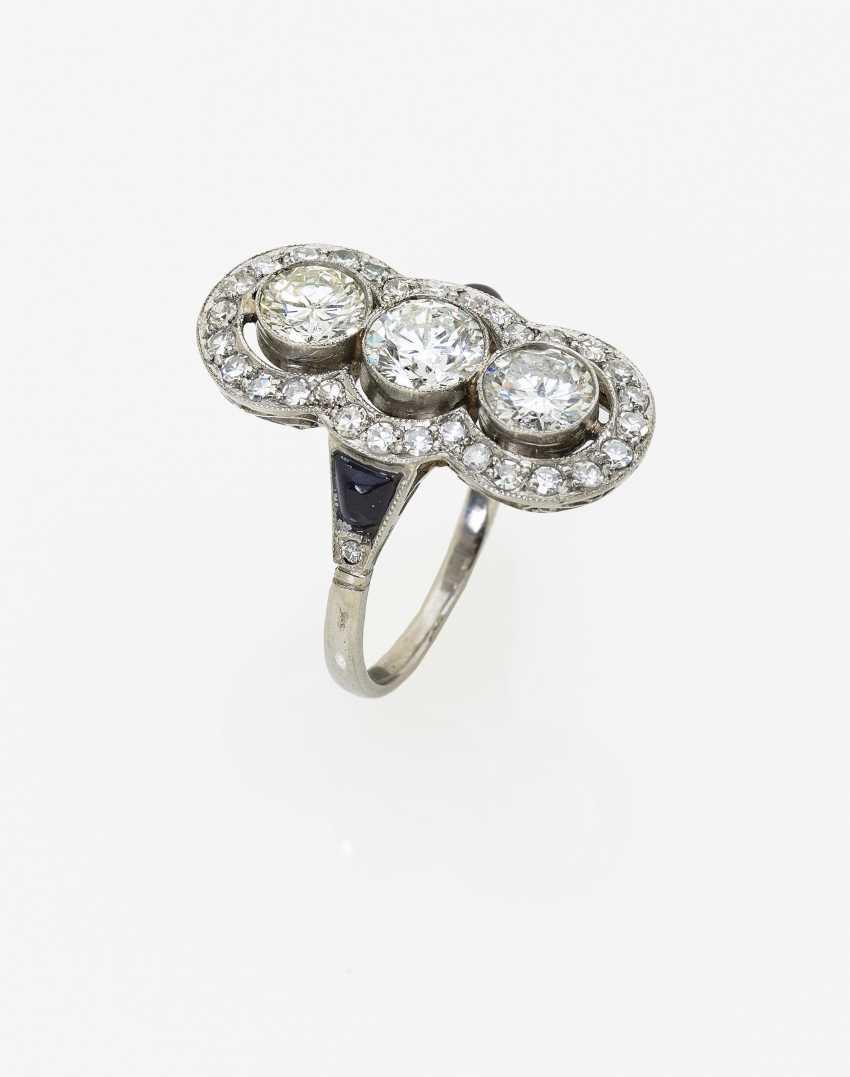 Marquis Shaped Diamond Ring - photo 2