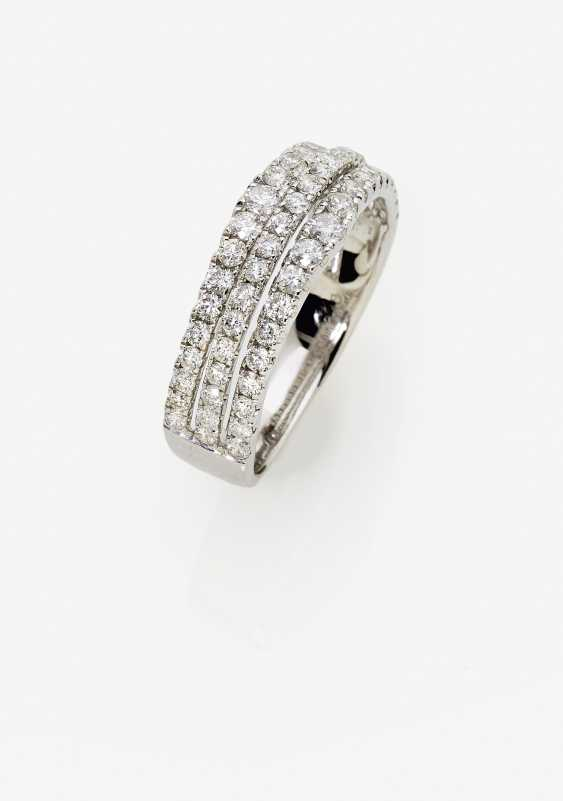 A modified band ring with diamonds - photo 1