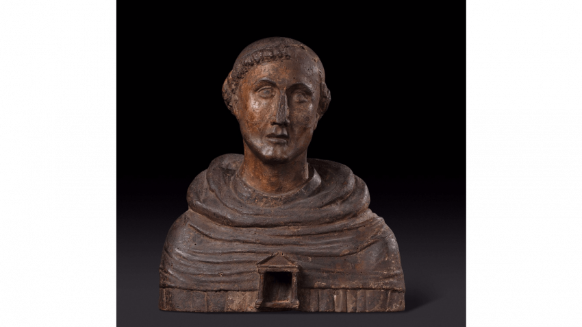 Bust representing a Saint monk - photo 1