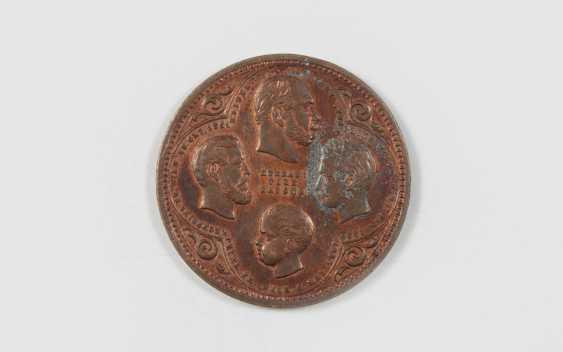 Четыре императора медаль, с бюстами императора Вильгельма I. - фото 1