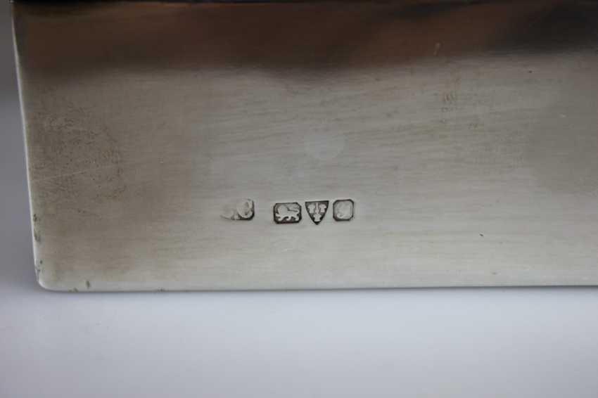 Paar Zigarettendosen, Silber punziert mit Holzkern - Foto 3