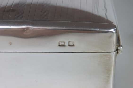 Paar Zigarettendosen, Silber punziert mit Holzkern - Foto 5