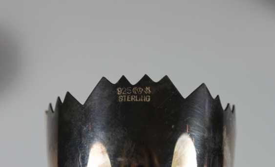 Sechs Eierbecher, Sterling Silber 925 - Foto 2