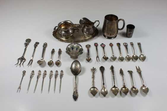 Konvolut 33 Teile Silber, gepunzt 800 - Foto 1