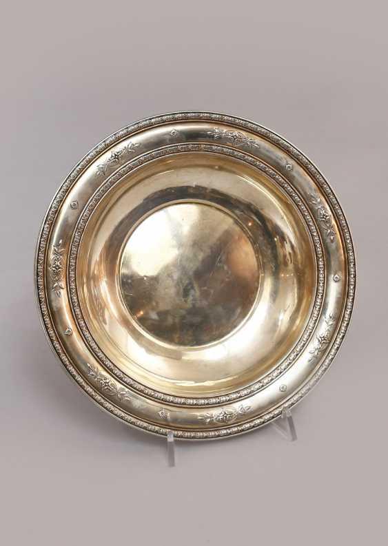 Runde Silberschale, gepunzt Sterling - Foto 1