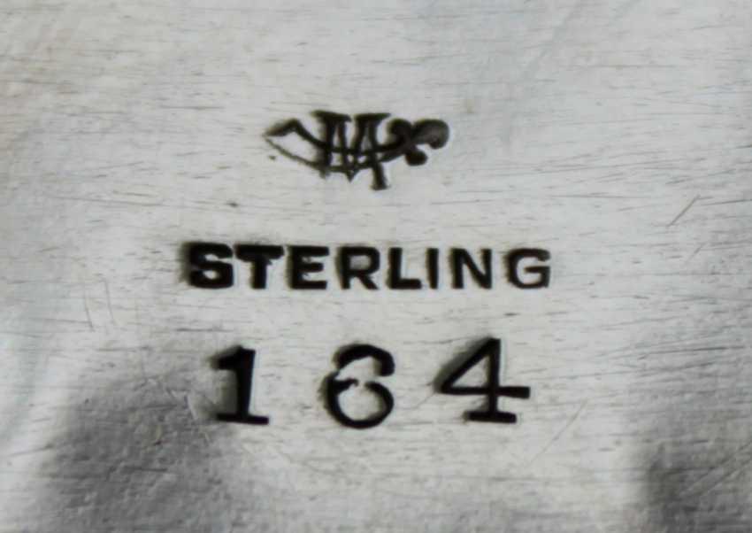 Runde Silberschale, gepunzt Sterling - Foto 2
