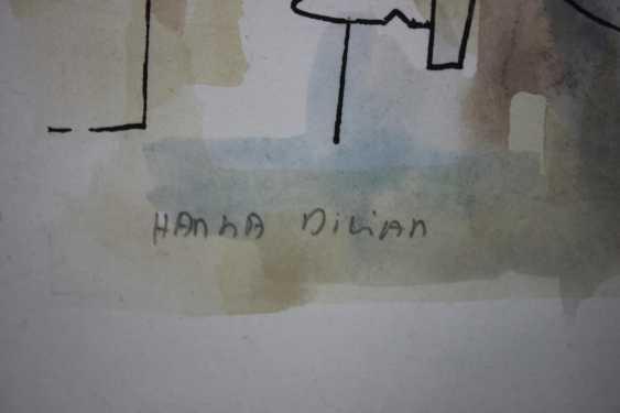 Hanna Dilian (1939 in Israel), Aquarellierte Lithografie - Foto 4
