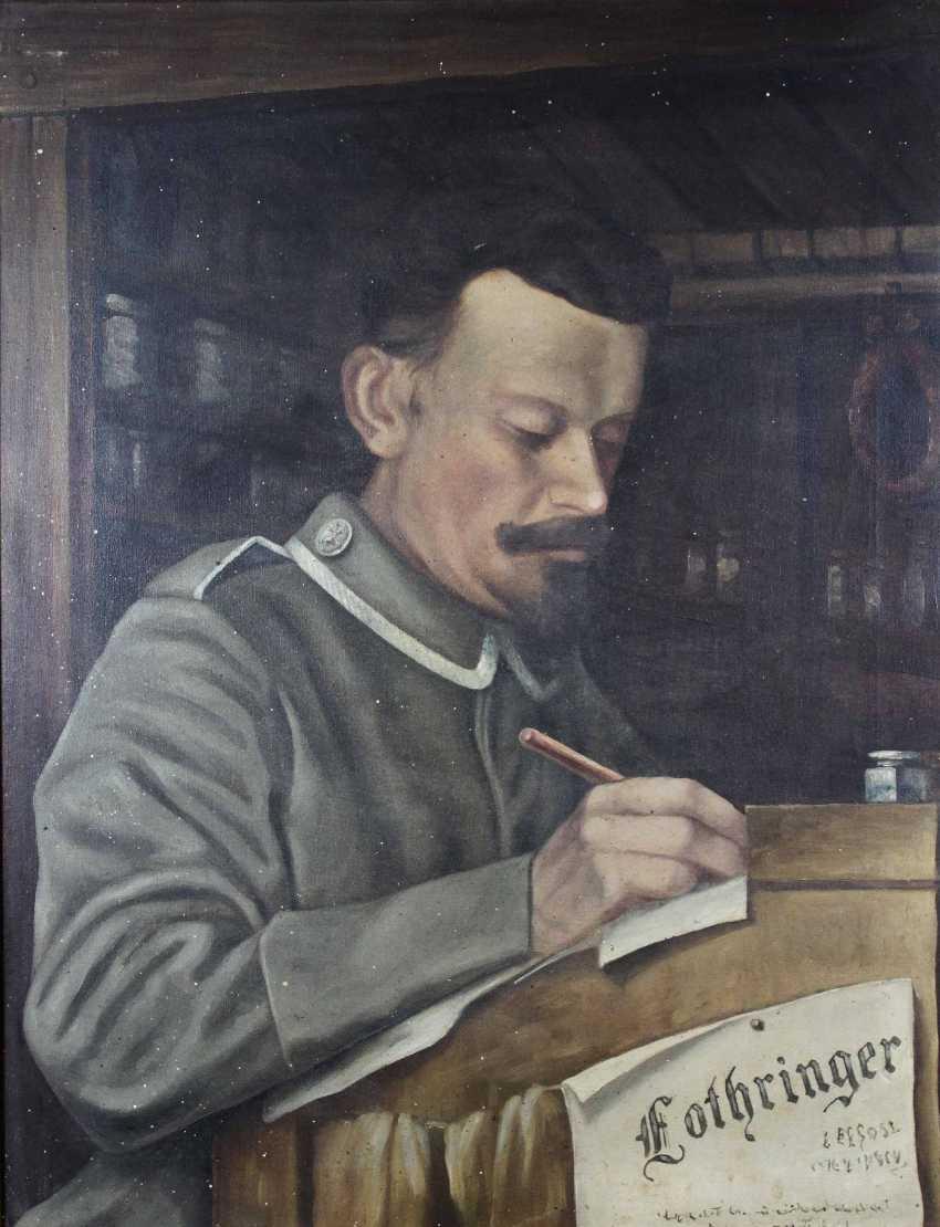 Портрет солдата Первой мировой войны, 1 ч. 20 веке - фото 1