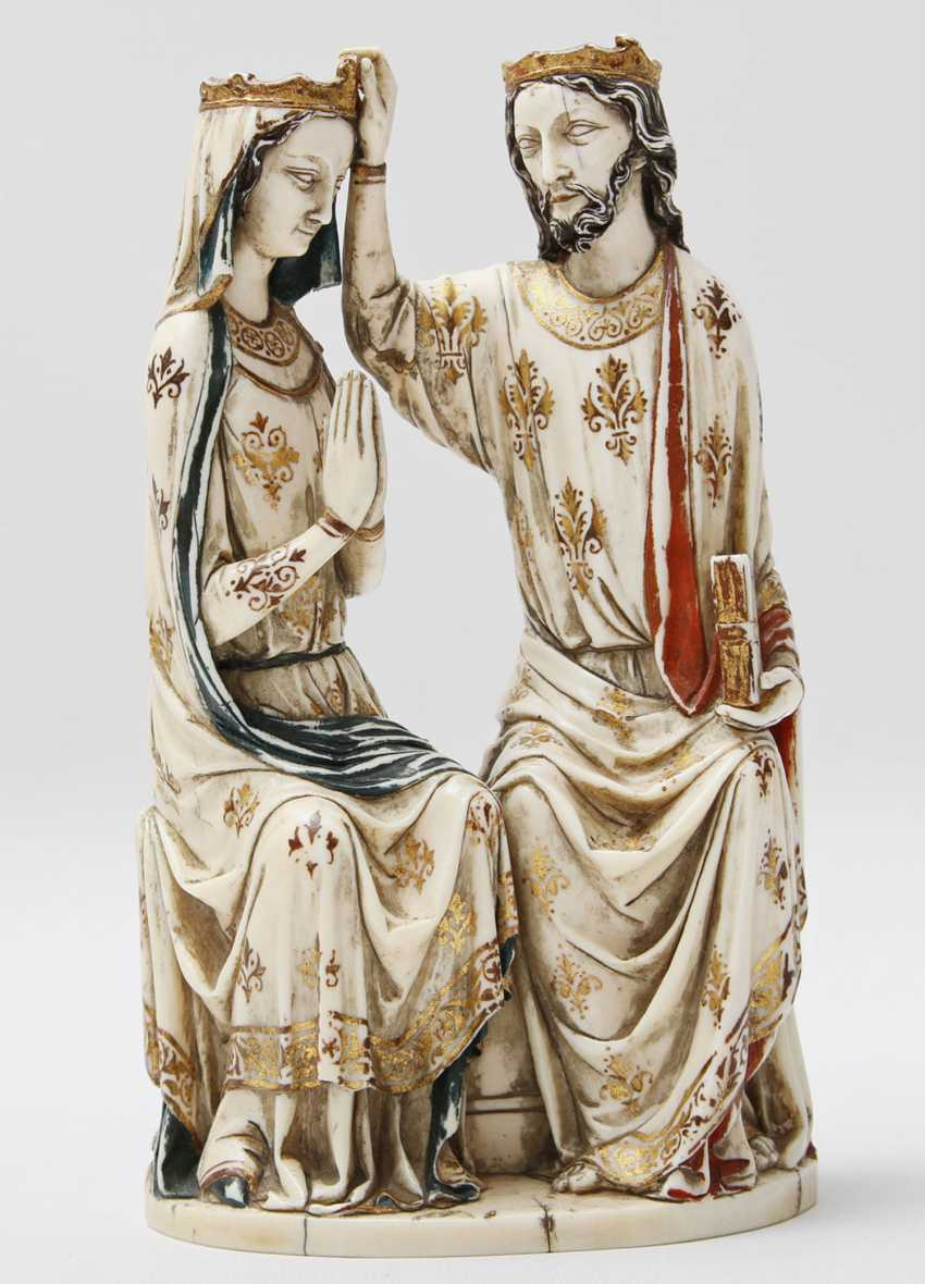 """""""Coronation of the virgin"""", probably France 1480-1670 - photo 1"""