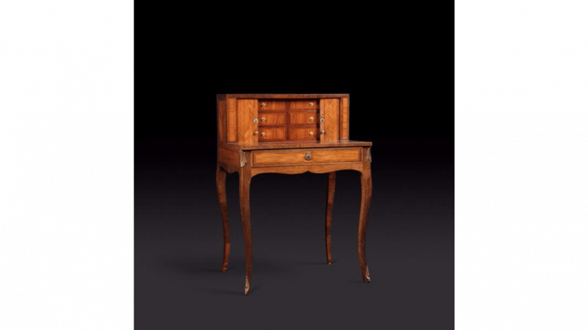 Happiness of the day in rosewood and marquetry of flowers - photo 1