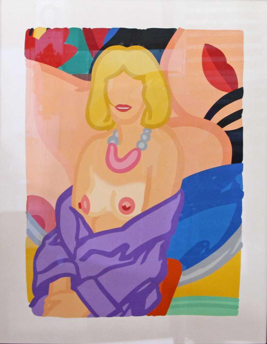 """WESSELMANN, TOM (1931-2004): """"Clair Sitting with Robe Half Off (Vivienne)"""", 1993, - photo 1"""